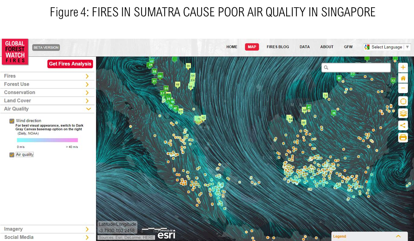 Fires in Sumatra Cause Poor Air Quality in SIngapore