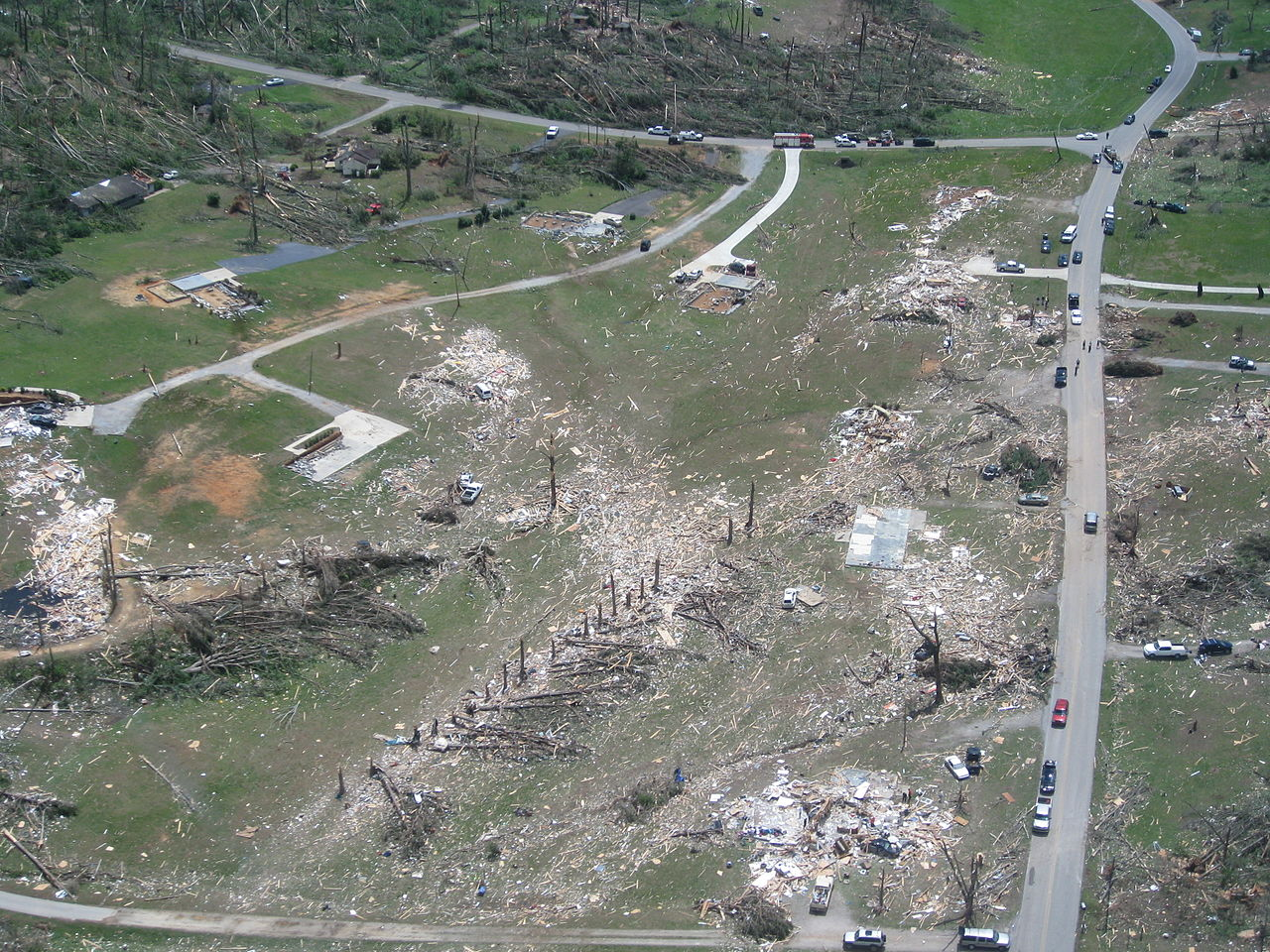 Tornado damage- Georgia