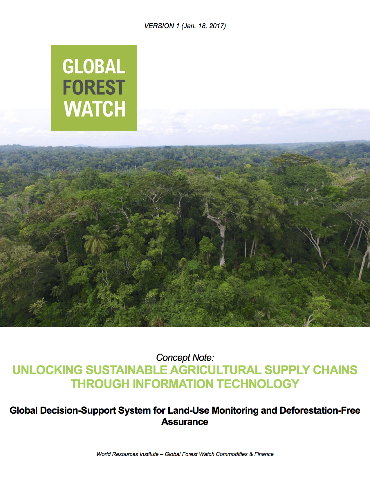 Concept Note – Global Decision-Support System For Land Use Monitoring and Deforestation-Free Assurance