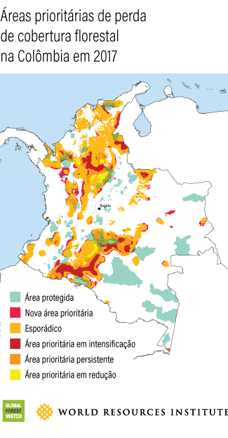 Colombia Tree Cover Loss Hotspots 2017