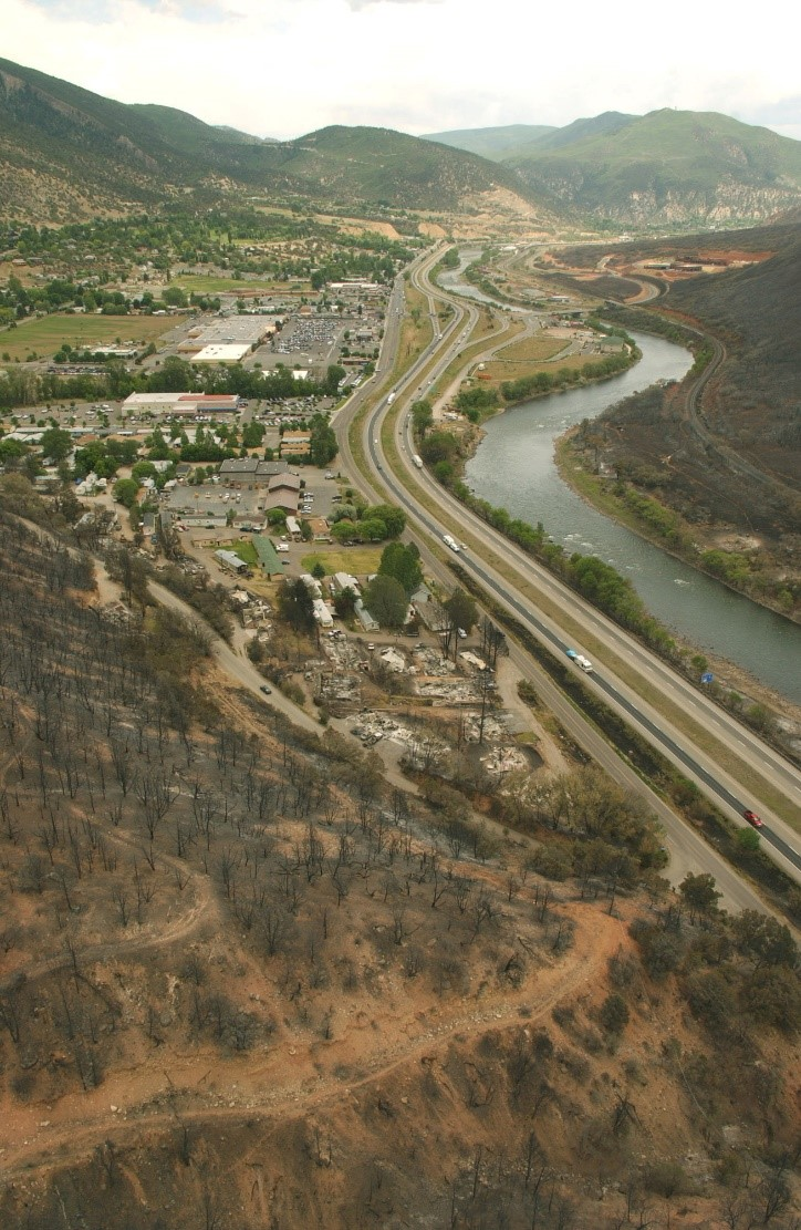 Colorado coal seam fire damage