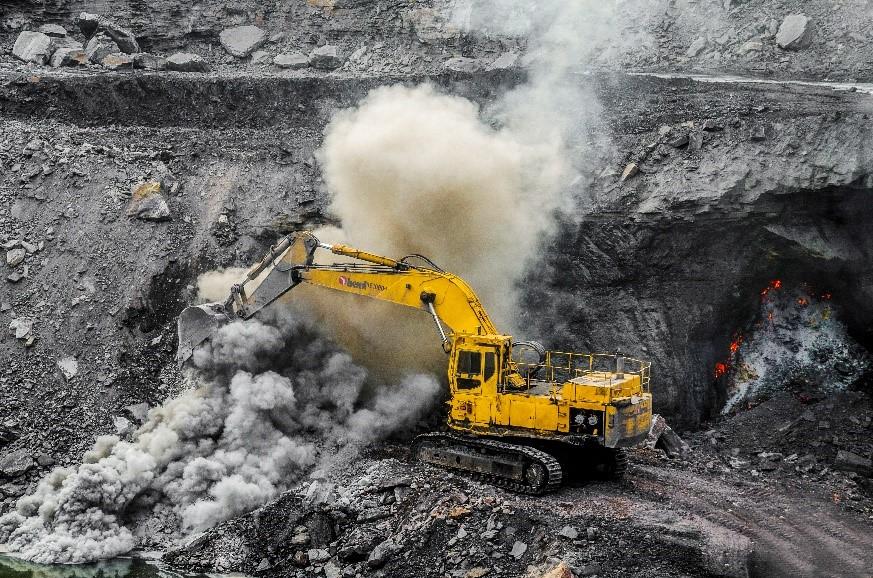 Excavation of coal seam fire.