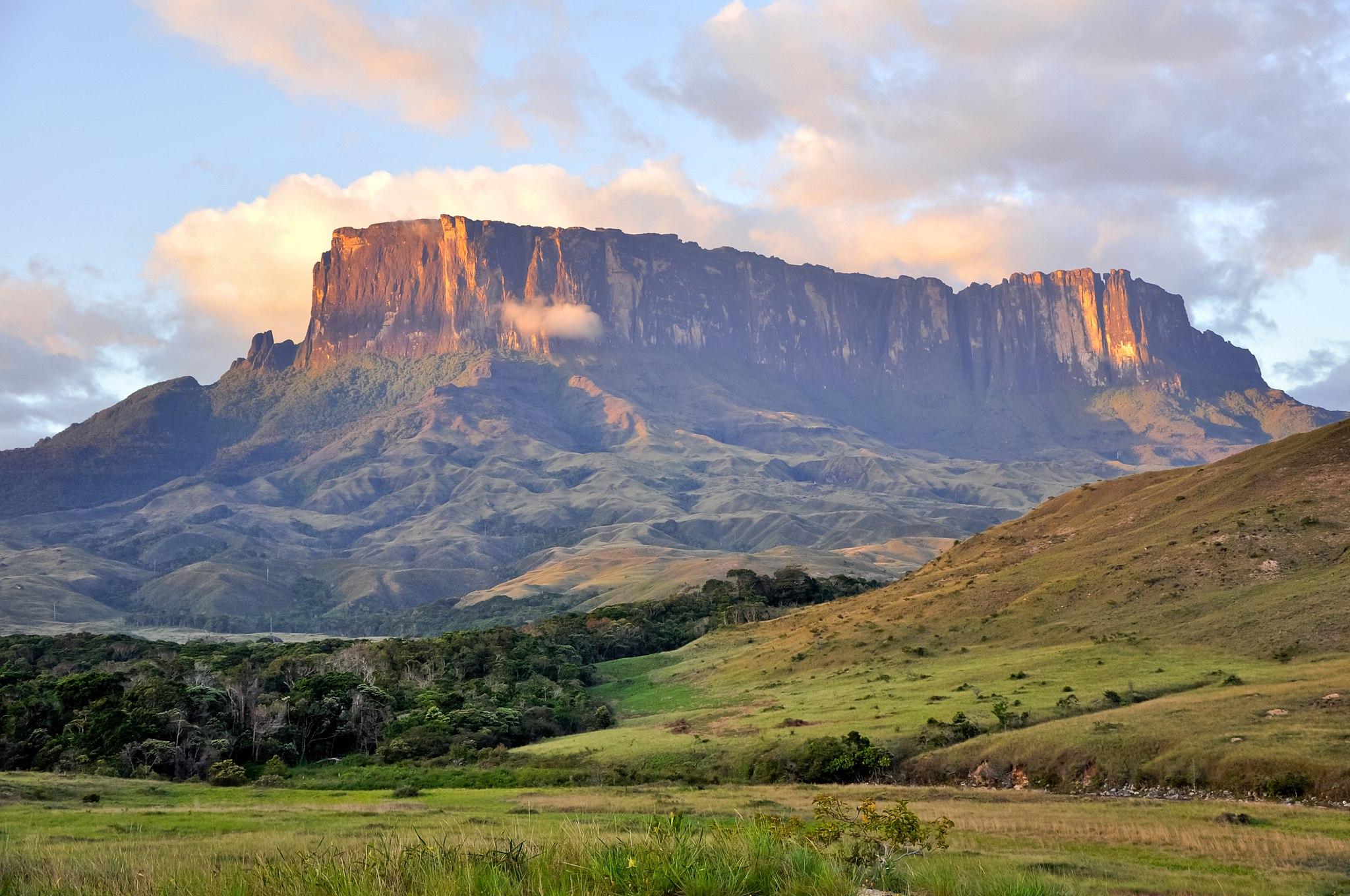 Tepui rock formation in Gran Sabana National Park, Venezuela