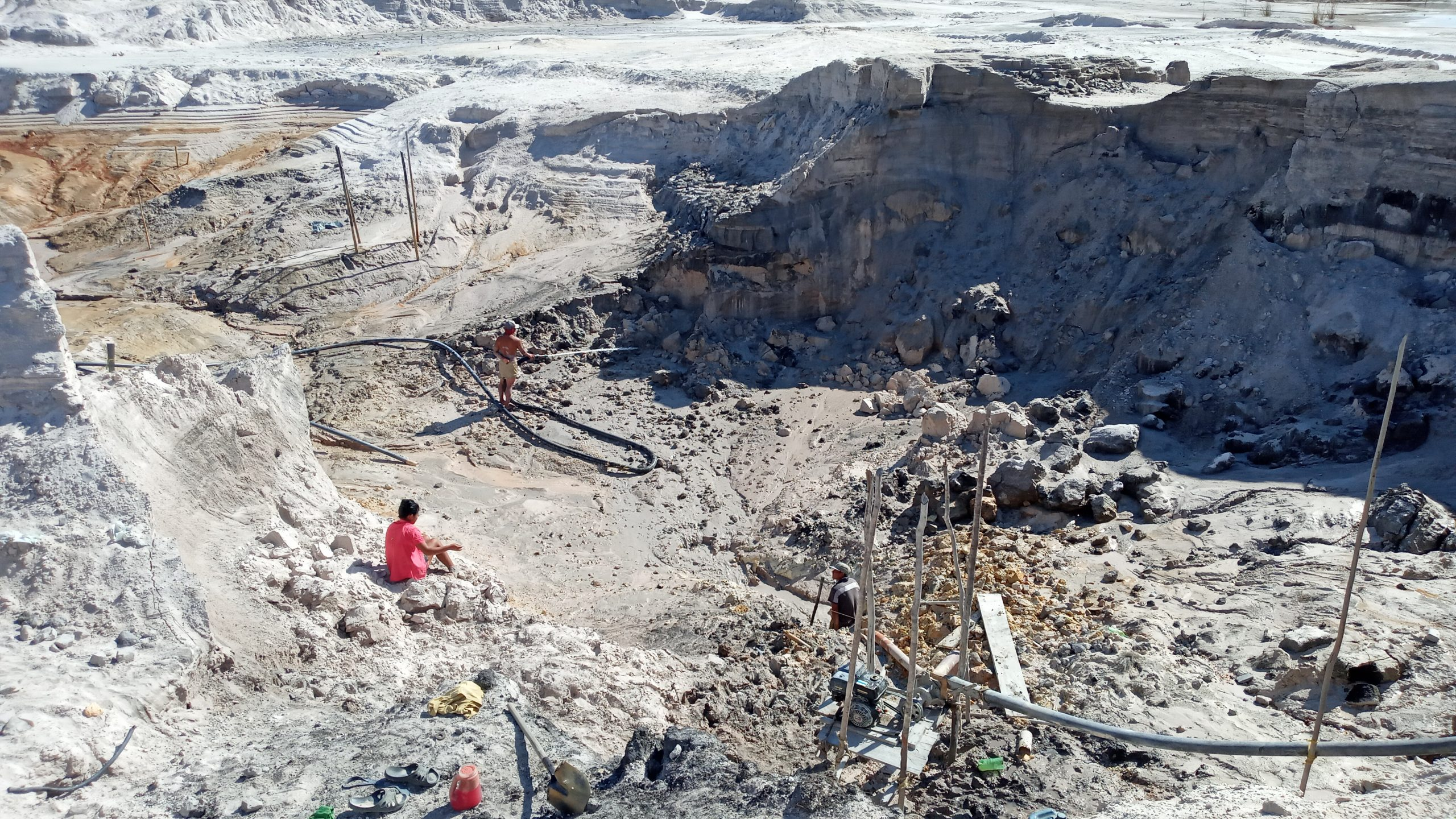 Stripped earth at an Arco Minero gold mine in Venezuela.