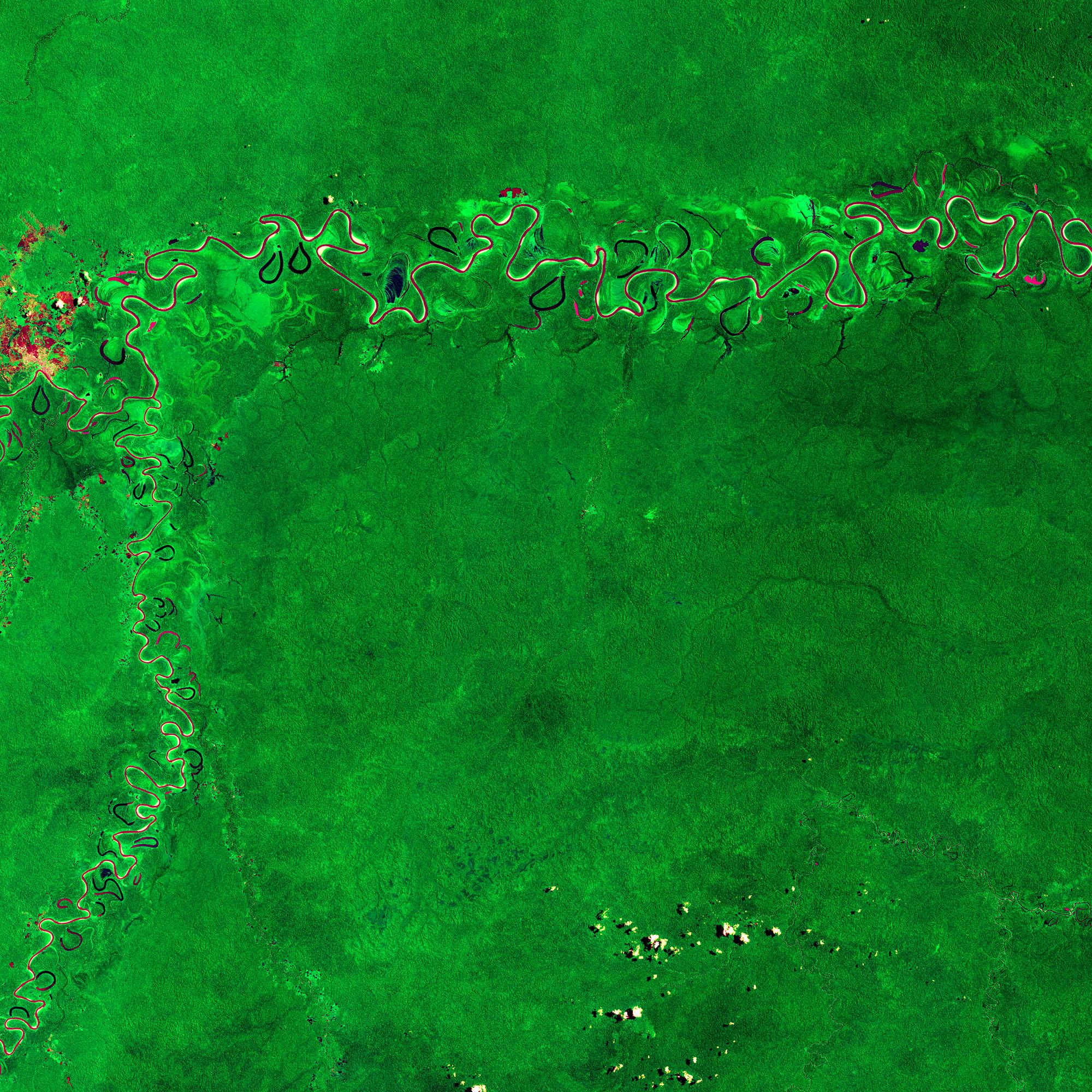 satellite data image of amazon rainforest
